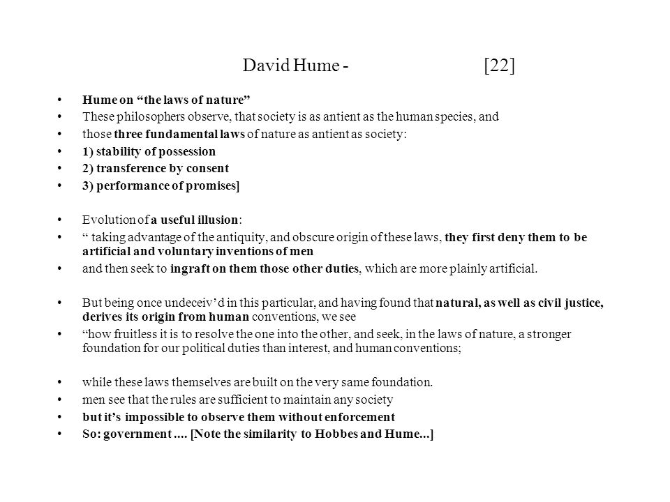 David Hume - [22] Hume on the laws of nature